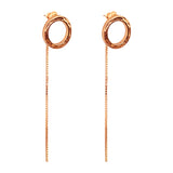 Rock Finders Keepers | Phoenix Stud Earrings With Chain Detail | Rose | VOULT.COM.AU