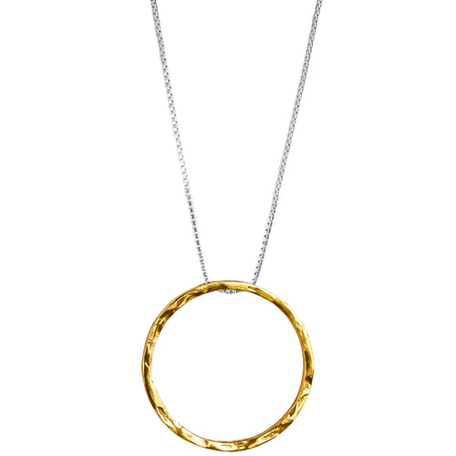 Rock Finders Keepers | Phoenix X-Large Hammered Ring Necklace - Long | Gold | VOULT.COM.AU