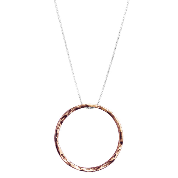 Rock Finders Keepers | Phoenix X-Large Hammered Ring Necklace | Rose | VOULT.COM.AU