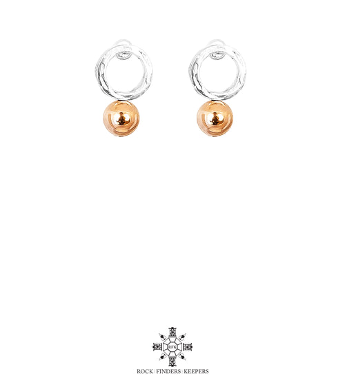 Rock Finders Keepers | Radison Medium Feature Stud Earrings | Polished Rose Detail | VOULT.COM.AU