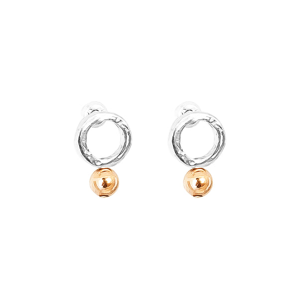 Rock Finders Keepers | Radison Fine Feature Stud Earrings | Polished Rose Detail | VOULT.COM.AU