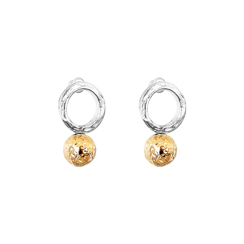 Rock Finders Keepers | Radison Large Feature Stud Earrings | Hammered Rose Detail | VOULT.COM.AU