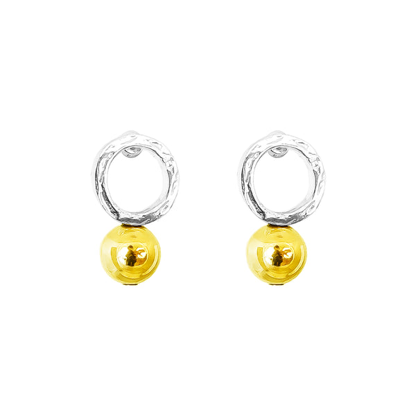 Rock Finders Keepers | Radison Large Feature Stud Earrings | Polished Gold Detail | VOULT.COM.AU