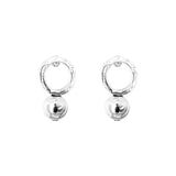 Rock Finders Keepers | Radison Large Feature Stud Earrings | Polished Silver Detail | VOULT.COM.AU