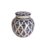 Voult | Small Ginger Jar With Lid | Blue And White | VOULT.COM.AU