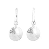 Rock Finders Keepers | Tatla Disc Earrings With Statement Hook | Polished Silver Detail | VOULT.COM.AU