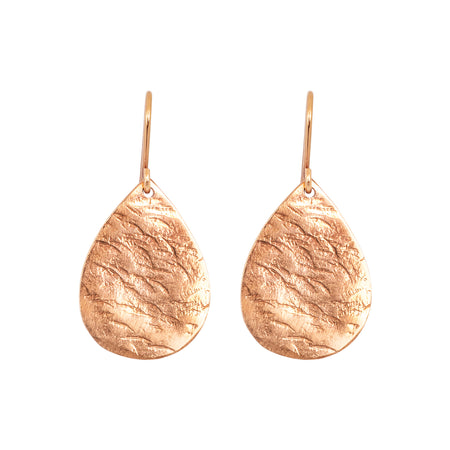 Nina Hammered Earrings | Silver