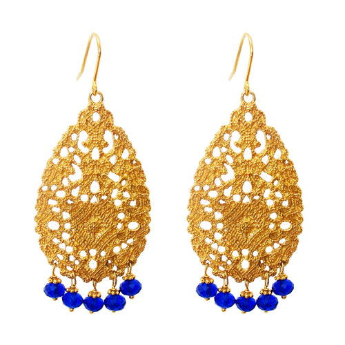 Rock Finders Keepers | Treston Earrings | Gold With Blue Quartz Detail | VOULT.COM.AU