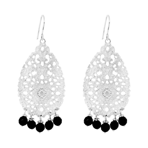 Rock Finders Keepers | Treston Earrings | Silver With Black Onyx Detail | VOULT.COM.AU