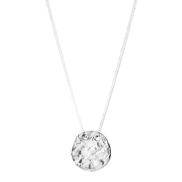Rock Finders Keepers | Vesper Small Disc Necklace | Silver | VOULT.COM.AU