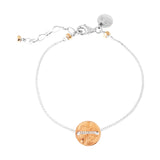 Rock Finders Keepers | Vogue Fine Hammered Disc Bracelet | Rose Disc And Detail | VOULT.COM.AU