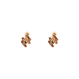 Rock Finders Keepers | Zaine Stud Earrings | Rose | VOULT.COM.AU