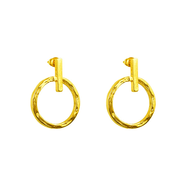 Zoe Earrings With Chain | Gold