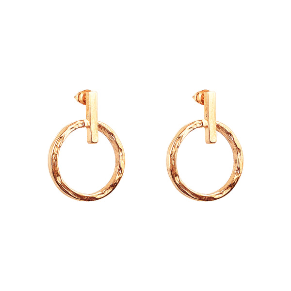 Zoe Earrings With Chain | Rose