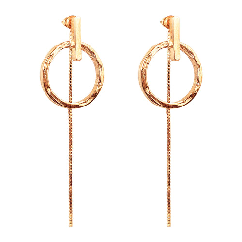 Rock Finders Keepers | Zoe Earrings With Chain | Rose | VOULT.COM.AU