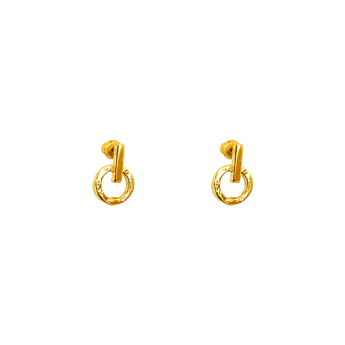 Rock Finders Keepers | Zoe Fine Stud Earrings | Gold | VOULT.COM.AU