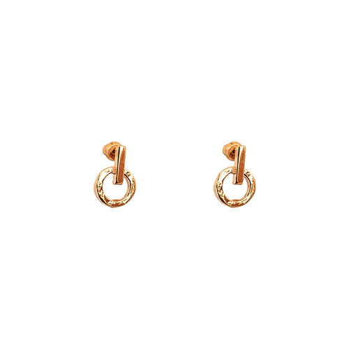 Rock Finders Keepers | Zoe Fine Stud Earrings | Rose | VOULT.COM.AU