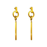 Rock Finders Keepers | Zoe Large Bar Earrings | Gold | VOULT.COM.AU
