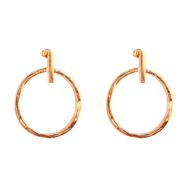 Zoe Large Earrings With Chain | Rose