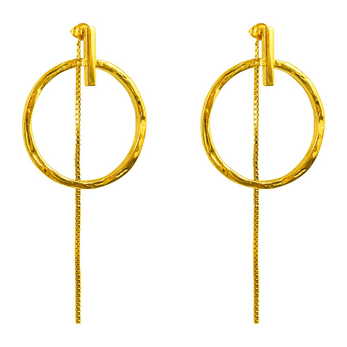 Rock Finders Keepers | Zoe Large Earrings With Chain | Gold | VOULT.COM.AU