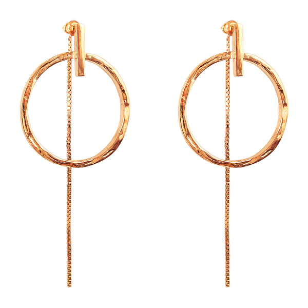 Rock Finders Keepers | Zoe Large Earrings With Chain | Rose | VOULT.COM.AU