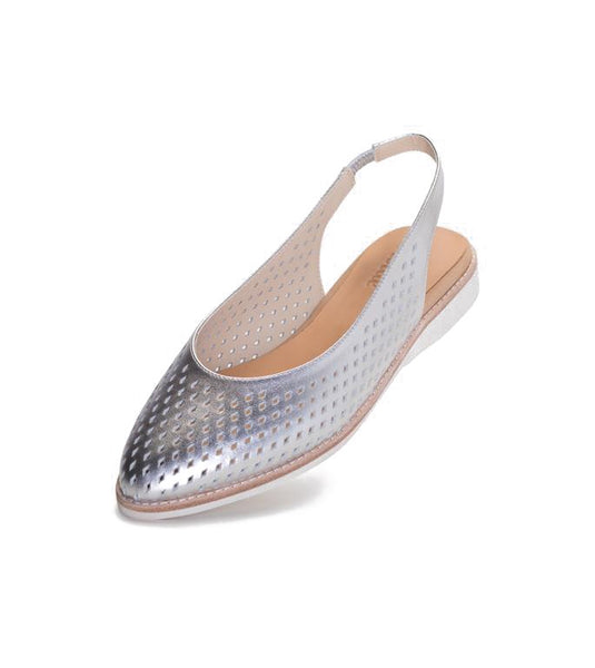 Rollie Madison Slingback Punch Silver