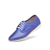 Rollie 21 Derby Punch Cobalt Metallic