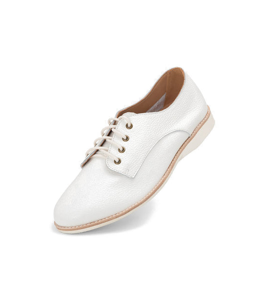 Rollie 21 Derby Unlined White Tumble Leather