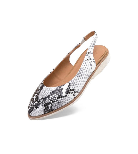 Rollie Madison Slingback Grey Snake