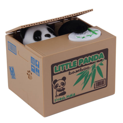 Coin Stealing Panda Piggy Bank - DriftOwl