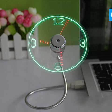USB Clock Fan w/temp - DriftOwl