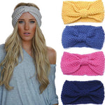 Crochet Bow Knitted Hair Band - DriftOwl