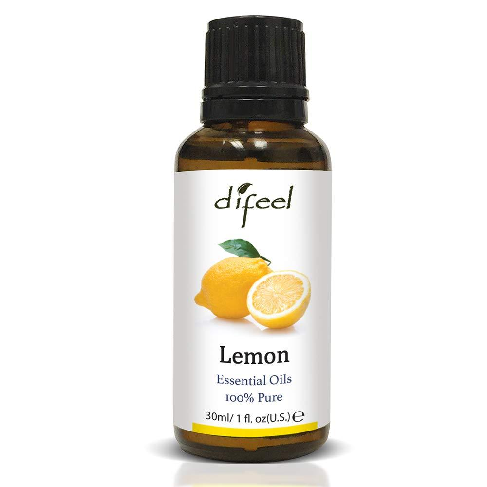 Difeel Essential Oil 100% Pure Lemon Oil 1 oz.  (Pack of 2)