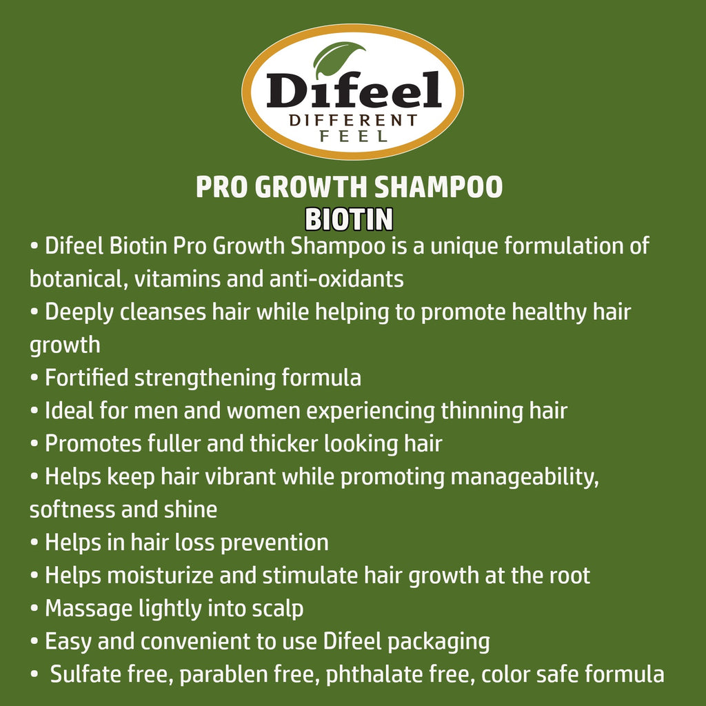 Difeel Pro-Growth Biotin Shampoo 33.8 oz.