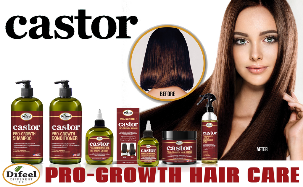 Difeel Castor Pro-Growth Hair Oil 2.5 oz.