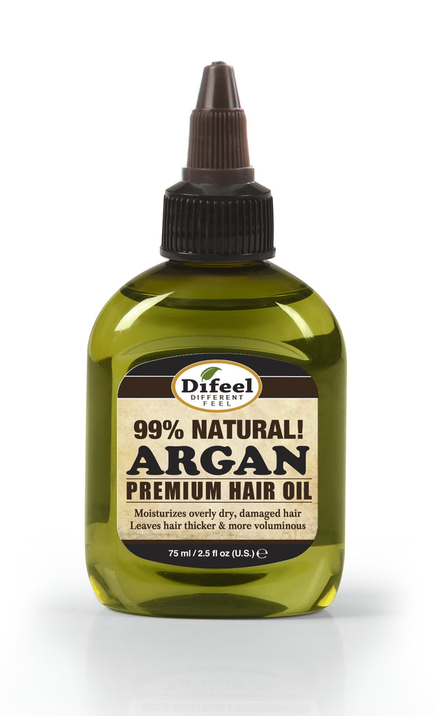 Difeel Premium Natural Hair Oil -  Argan Oil 2.5 oz. (PACK OF 2)
