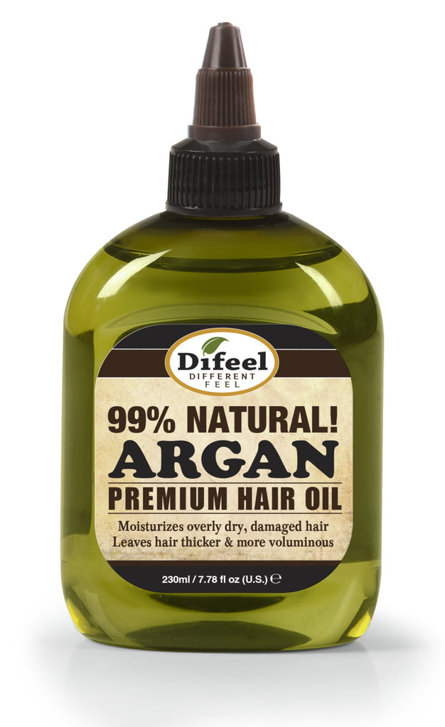 Difeel Premium Natural Hair Oil - Argan Oil 8 oz. (PACK OF 2)