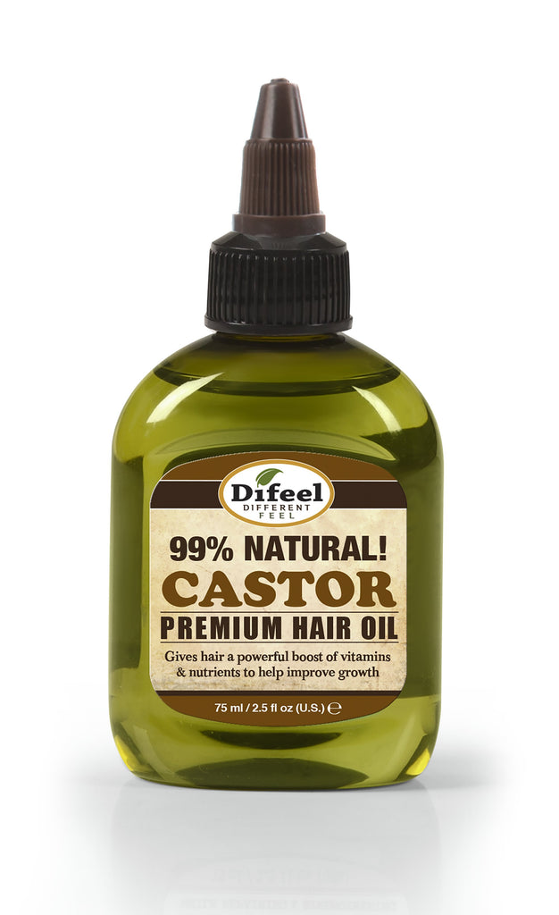 Difeel Premium Natural Hair Oil - Castor Hair Oil 2.5 oz. (PACK OF 2)