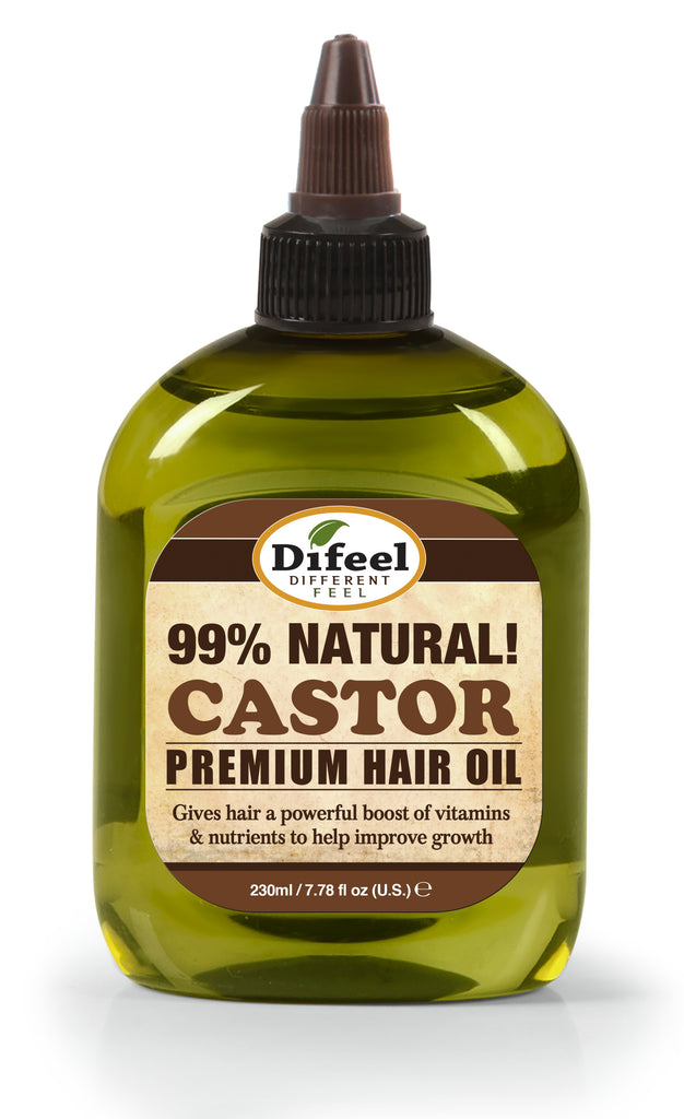 Difeel Premium Natural Hair Oil - Castor Oil 8 oz.