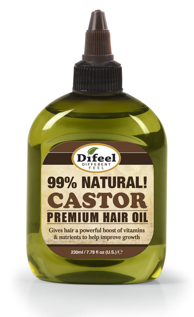 Difeel Premium Natural Hair Oil - Castor Oil 8 oz. (PACK OF 2)