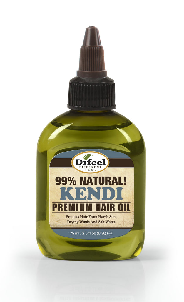 Difeel Premium Natural Hair Oil - Kendi Oil for Damaged Hair 2.5 oz. (PACK OF 2)