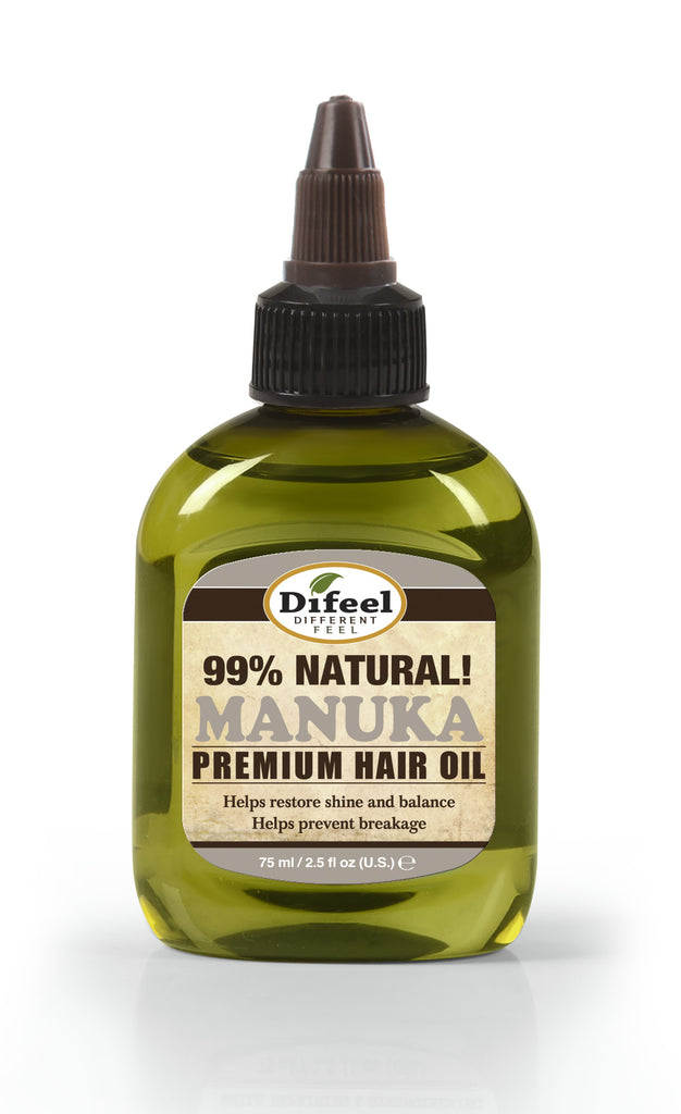 Difeel Premium Natural Hair Oil - Manuka Oil 2.5 oz. (PACK OF 2)