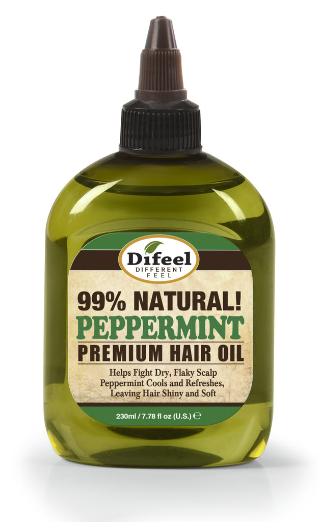Difeel Premium Natural Hair Oil - Peppermint Oil 8 oz. (PACK OF 2)