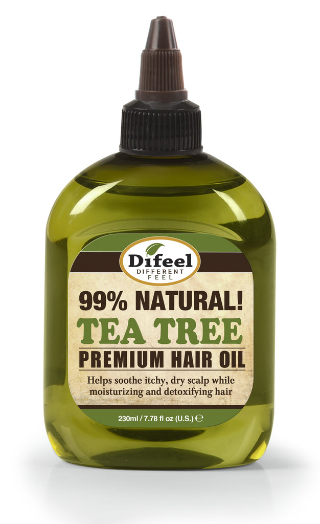 Difeel Premium Natural Hair Oil - Tea Tree Oil 8 oz. (PACK OF 2)