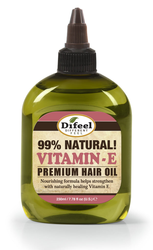Difeel Premium Natural Hair Oil - Vitamin E Oil 8 oz. (PACK OF 2)