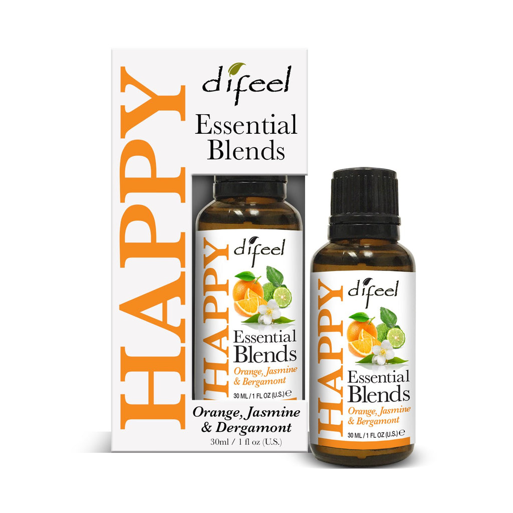 Difeel 100% Natural Essential Oil Blends - Happy 1 oz.  (Pack of 2)