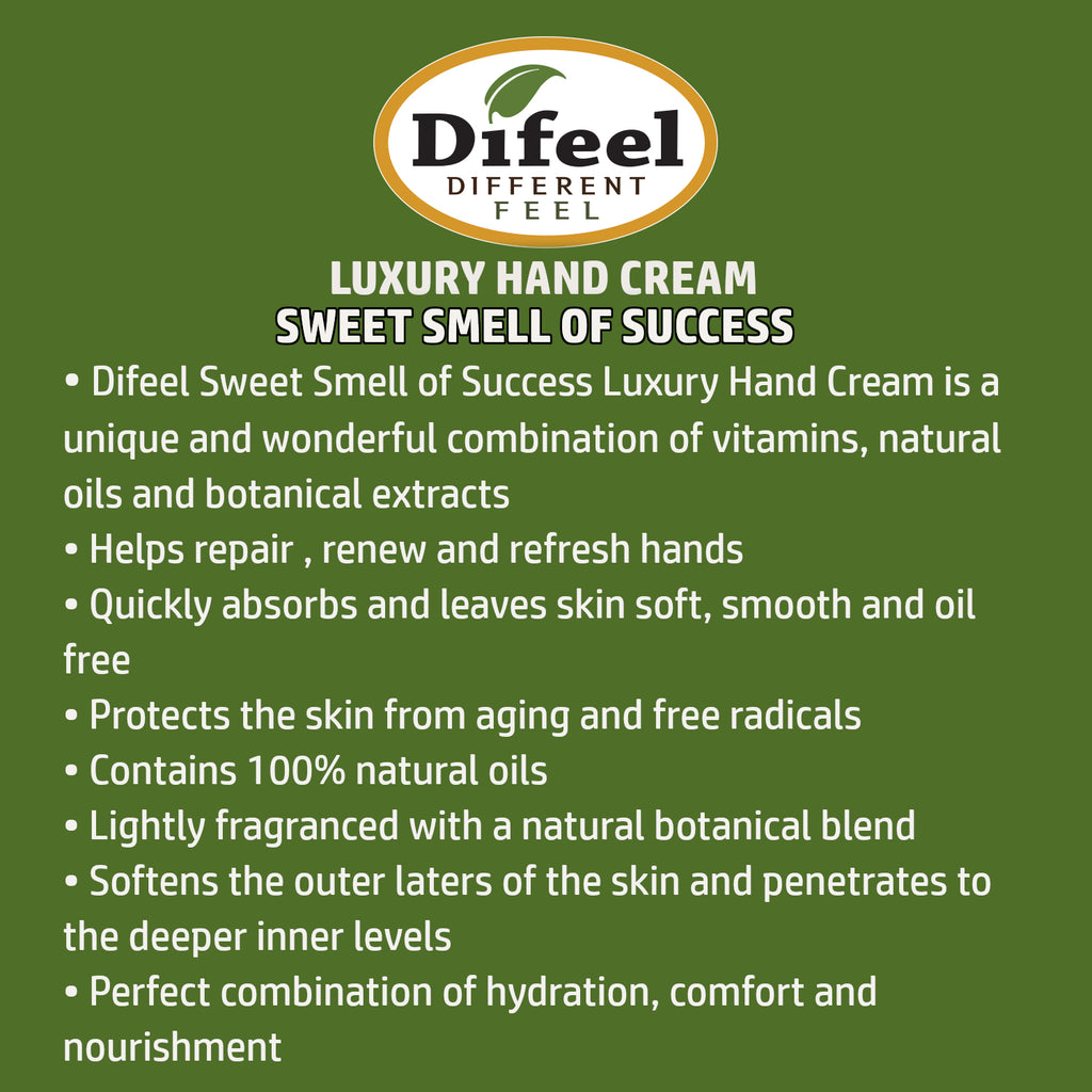 Difeel Luxury Moisturizing Hand Cream - Sweet Smell of Success 1.4 oz.