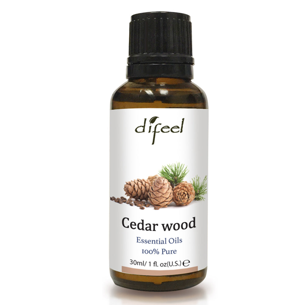 Difeel Essential Oil 100% Pure Cedar Wood 1 oz.