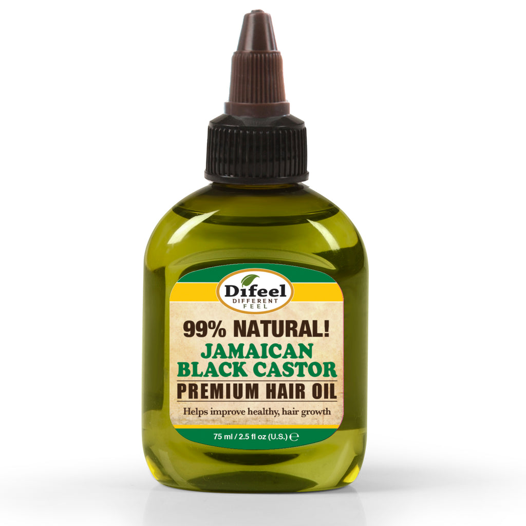 Difeel 99% Natural Premium Hair Oil - Jamaican Black Castor Oil 2.5 oz.