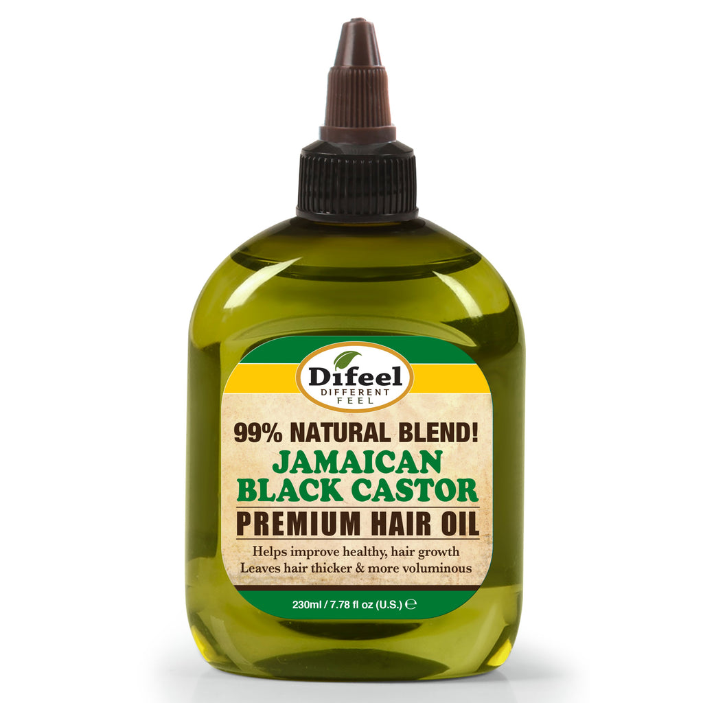Difeel 99% Natural Premium Hair Oil - Jamaican Black Castor Oil 7.78 oz. (PACK OF 2)